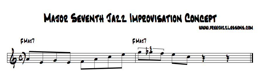 jazz improvisation lick over a major chord