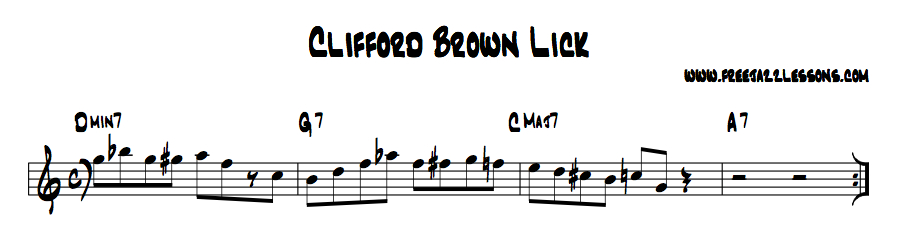 Clifford Brown Jazz Lick Lesson